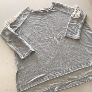 AE Grey Sweater with Shoulder Cut Outs